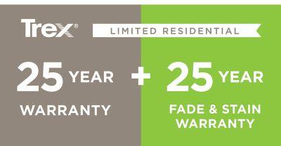 TREX 25 year warranty